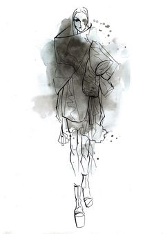 Rick Owens spr. 2015 by Lara Wolf #fashion #illustration