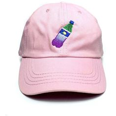 Dirty Soda Cap in Pink 1st Class Living featuring polyvore, women's fashion, accessories, hats, cap hats, embroidered caps, pink hat, embroidery hats and strap hats