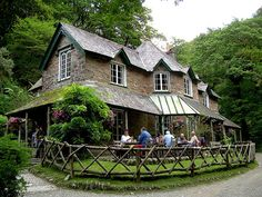 Watersmeet Tea House in Exmoor, North Devon, England, U. (by pudontour). Devon England, England And Scotland, The Places Youll Go, Places To Visit, Devon And Cornwall, North Devon, Just Dream, Great Britain, Beautiful World