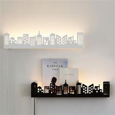 2017 Современный поверхностного монтажа светодиодные бра для спальни кабинет металл + Акриловые home Art декор настенный светильник led черный/белый #LedLamp