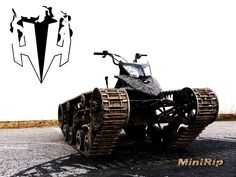 Mini Ripsaw, A Large All-Terrain Vehicle Built With Tank Treads