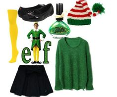 BUDDY costume - or use red and green striped tights for regular CHRISTMAS ELF   (ugly sweater alternatives)