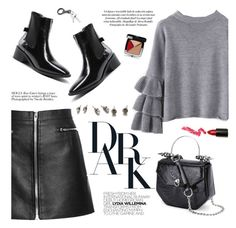 """""""BLACK/GREY"""" by yexyka ❤ liked on Polyvore featuring Wild Rose, Chanel and Lime Crime"""