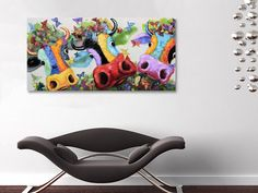 Wie wil deze vrolijke koeien nou niet hebben? Interieur | Schilderijen | Wonen | Interieurideeen | Interieur woonkamer | Decoratie | Woondecoratie | Schilderij woonkamer