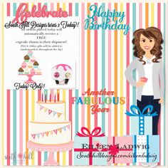 TODAY ONLY!!!! HAPPY 2nd BIRTHDAY to South Hill Designs!!! Get a FREE CUPCAKE CHARM with every order! PLUS gifts will RANDOMLY be placed in orders.... GET YOUR ORDER IN TODAY!!! www.southhilldesigns.com/eileenladwig #freegift #happybirthday #ordertoday #shd #southhilldesigns #southhilldesignsbyeileenladwig #wearyourcause #wearyourstory #wearwhatyoulove #lovemyjob #lovewhatyoudo #celebrate