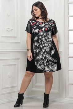 Vestido Plus Size Kerry - Outono/Inverno 2017 - Confira em www.daluzplussize.com.br