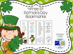 St. Patrick's Day Bookmarks  It's almost St. Patrick's Day. You can give your little leprechauns these fun St. Patrick's Day bookmarks and watch them smile like an upside down rainbow.  This freebie includes both color and black and white bookmarks for your friends to color. The luck of the Irish be with ya as you download these free St. Patrick's Day bookmarks HERE.  Hope you enjoy!  3-5 A Teacher's Bag of Tricks Bookmarks K-2 st. patrick's day The Book Bug