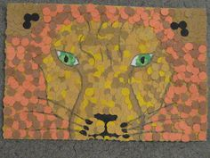 Pointilism using paper punch dots.