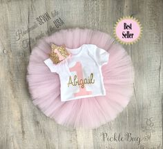 Items similar to Unicorn first birthday outfit second birthday outfit, tutu and headband 3 piece set, unicorn birthday outfit, birthday outfit cake smash on Etsy Newborn Tutu, Baby Tutu, Girl Tutu, Minnie Mouse Theme Party, Minnie Mouse Pink, 1st Birthday Outfit Girl, Gold Birthday, Unicorn Birthday, Girls Tutu Dresses