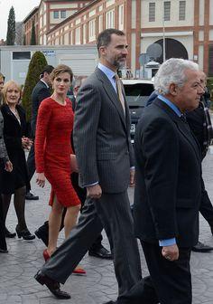 King Felipe VI of Spain and Queen Letizia of Spain visit the 'Freixenet' wine cellar on February 12 2015 in Sant Sadurni d'Anoia Spain Freixenet...