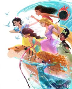 Disney Drawing Swipe to see the full painting! ✨ Here's the final painting from my most recent video painting the Disney Princess in a Battle Royale! Disney Pixar, Disney Fan Art, Disney Animation, Disney And Dreamworks, Disney Cartoons, Disney Characters, Funny Cartoons, Tiana Disney, Disney Princess Bild