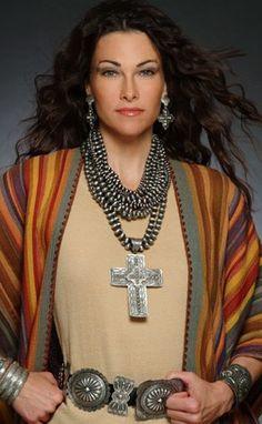 ~ Rocki Gorman, Handmade American Jewlery, Santa Fe-- just down the road from Taos. #southwest #fashion