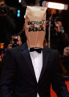 Shia LaBeouf Paper Bag Mask Rough Drafts | Happy Place