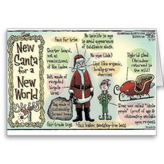 Santa for a modern world, fun Christmas card