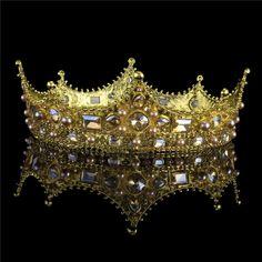 Elegant Rhinestone Wedding Pageant Headband Bridal Tiara Crown Princess Placid