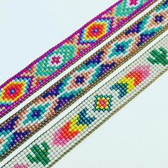 off loom beading stitches Loom Bracelet Patterns, Bead Loom Bracelets, Beaded Jewelry Patterns, Beading Patterns, Beading Ideas, Beading Supplies, Seed Bead Projects, Bead Crochet Patterns, Brick Stitch Earrings