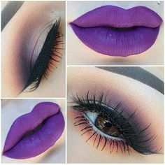 I have always liked the purple lips look:) but a just for fun look:) XD #lips #makeup #savit