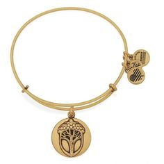 Women's Alex And Ani 'Unexpected Miracles Ii' Expandable Charm... ($28) ❤ liked on Polyvore featuring jewelry, bracelets, gold, expandable bangle, hinged bracelet, bangle charm bracelet, expandable bangle bracelet and alex and ani bangles