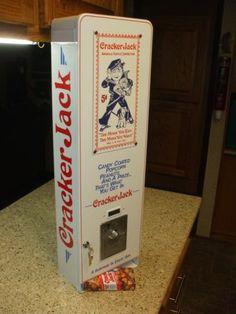 vintage cracker jack vending machine candy coated popcorn peanuts prizes arcade | eBay