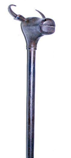 Maça de batalha Indo/Persa, medindo ao todo 24cm