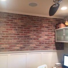 Faux Brick Wall Home Depot interior brick veneer made from real bricks - from brickweb and