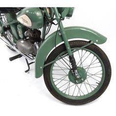 2002 - 1952 Green BSA Bantam motorbike, 15871 recorded miles, registration - AJK one recorded. 125cc Motorbike, 3 Wheel Motorcycle, Bsa Bantam, Honda Motorcycles, Motorbikes, D1, Green, Wheelbarrow, Griffins