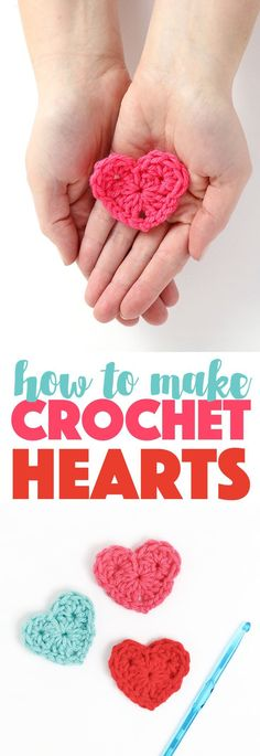 how to crochet hearts - simple crochet heart free pattern makes the cutest little hearts