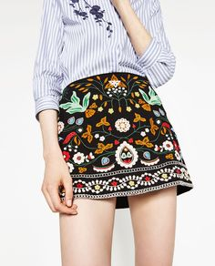 EMBROIDERED MINI SKIRT-NEW IN-WOMAN-COLLECTION AW16 | ZARA United States