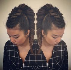Awesome #mohawk #braid #ponytail combo by Alchemy Hair Salon!