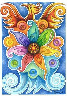 'Phoenix' mandala