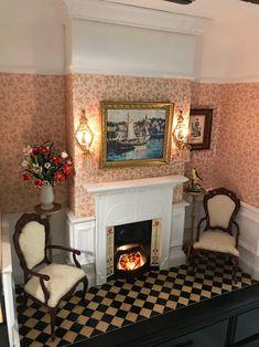 Victorian Dollhouse, Victorian Decor, Victorian Homes, Victorian House Interiors, Victorian Bedroom, Vintage Dollhouse, Wooden Dollhouse, Vintage Dolls, Vintage Paper