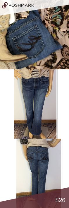 EXPRESS BOOTCUT JEANS Nothing wrong with these jeans. Nice detailed pockets and boot cut Express Jeans Boyfriend
