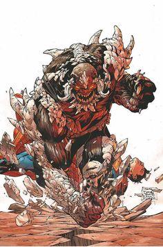 Doomsday vs Superman New 52 Marvel Vs, Comic Books Art, Make A Comic Book, Comic Art, Book Art, Image Jpeg, Comic Styles, Superhero Facts, One Punch Man