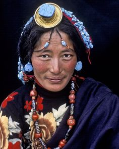 "The women from the Kham, Tibetan region. By @alisonwrightphotography  They fervently spin their prayer-wheels, while somehow managing to balance the colorful array of amber, turquoise and coral woven throughout their hair.  This image is featured in my book ""Face to Face: Portraits of the Human Spirit."" ..... #alisonwright #facetoface #portrait #tibet #woman #jewelry #natgeo #natgeotravel #natgeocreative @natgeocreative @natgeotravel @natgeo"