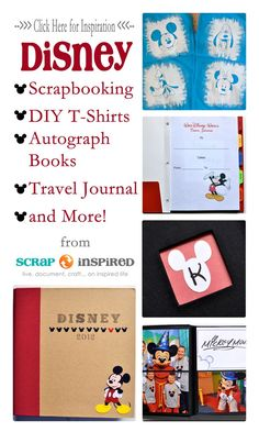 Click to see lots of inspiration for Disney scrapbooking, DIY crafting, parties and more! http://scrapinspired.com/everything-disney/