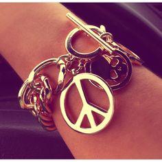 Love love love my new peace bracelet :-D