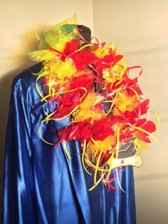 Red and Yellow Candy Lei Graduation Leis Candy Leis by SugarLeis