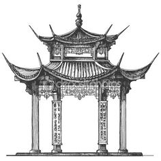 Temple or architecture icon. Temple or architecture icon. Architecture Du Japon, Architecture Antique, Architecture Drawing Plan, Architecture Drawing Sketchbooks, Ancient Chinese Architecture, Architecture Wallpaper, Modern Architecture, Pavilion Architecture, Arquitectura Logo