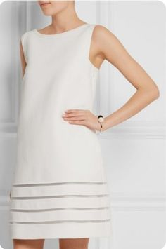 Shop on-sale Fendi Mesh-paneled cotton-crepe mini dress. Browse other discount designer Dresses & more on The Most Fashionable Fashion Outlet, THE OUTNET. Casual Dress Outfits, Mode Outfits, White Outfits, Couture Dresses, Fashion Dresses, Simple Dresses, Short Dresses, Fendi Dress, Frack