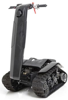 BPG Werks' DTV Shredder. Part scooter, part ATV, part tank; Pure. Awesome.  Check out the demo: http://youtu.be/H5ADbwfktYs