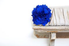 cobalt blue silk pleated personalized clutch by eclu on Etsy, $68.00