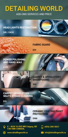 Grab different types of Ad-On Packages from Detailing World for efficient #cardetailing solutions. Visit our page to know more information about this.