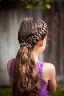 Just another lovely way to hold your hair with Lilla Rose clips!!! #braidedpony #lillarose #easyhair