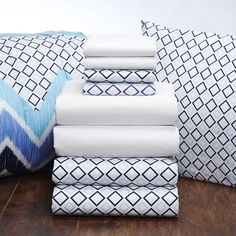 Twin Xl Bedding Sets For Girls - Home Furniture Design Twin Xl Bedding Sets, Home Furniture, Furniture Design, Dorm Room Bedding, White Sheets, Girl House, College Dorm Rooms, Pillows, Comforter