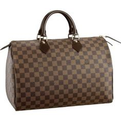 Louis Vuitton Damier Ebene Canvas Speedy 35 N41523