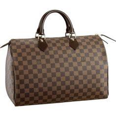 Louis Vuitton Damier Ebene Canvas Speedy 35 N41523