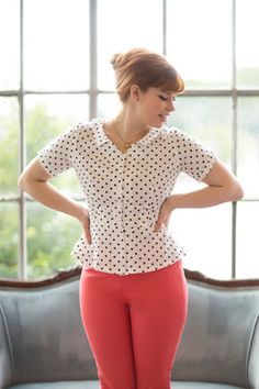 Hawthorn by Colette Patterns - PERFECT. PEPLUM. BLOUSE.