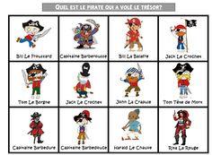 Qui est le pirate qui a volé le trésor? Apprendre à décrire...