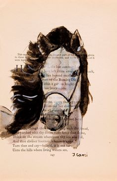 Horse Watercolor Painting by ArtEnchantedWoods