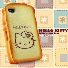 """#hellokitty """"toast"""" iphone #case - I'm not usually that into hello kitty products, but this is pretty cute!"""